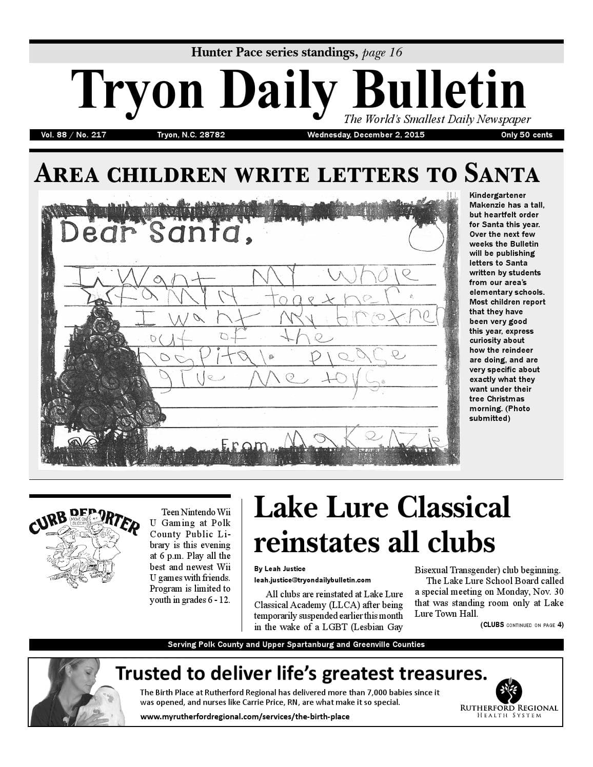 Tryon Daily Bulletin